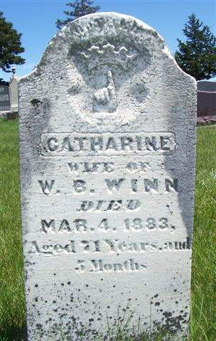 Gravestone, Catherine (Burrow) Winn